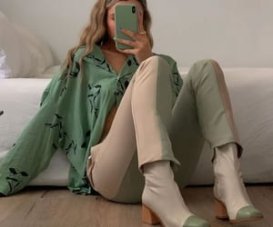 pastel, green, and outfit image