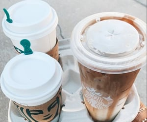 aesthetic, caramel, and drink image