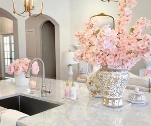 flower, home, and home interior image