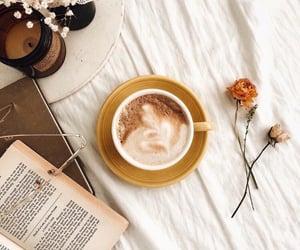 books, coffee, and autumn image
