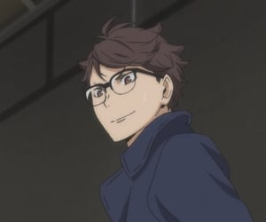 anime, haikyuu, and oikawa image