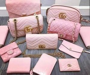 bag, pink, and girls image