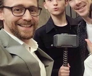 tom holland, Marvel, and tom hiddleston image