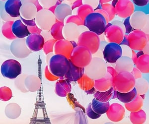 paris, balloons, and style image