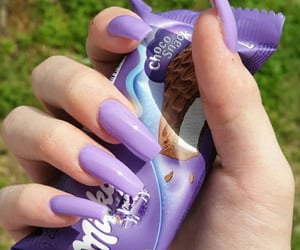nails, milka, and milkanails image