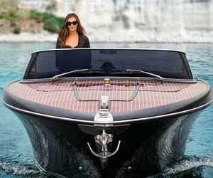 boat, goals, and woman image