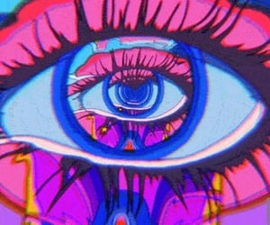 eyes, gif, and trippy image