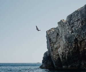 cliff, bucket list, and diving image
