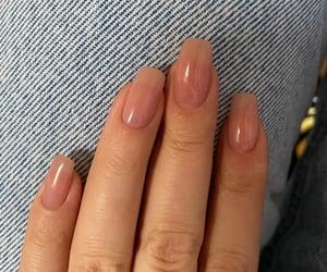 nails, natural, and girl image