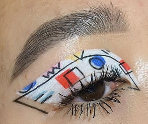 art, makeup, and eyes image