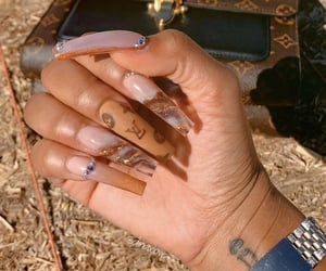 Louis Vuitton and nails image