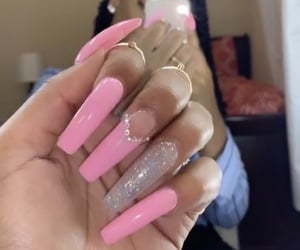acrylics, long nails, and gel nails image