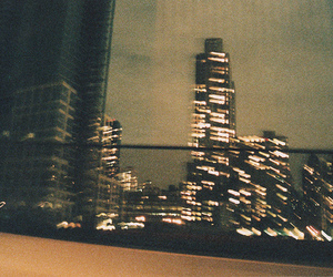 building, light, and city image