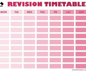 revision timetable, cute revision timetable, and study revision timetable image