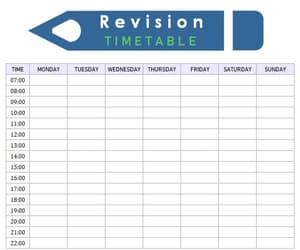 revision timetable, cute revision timetable, and revision timetable cute image