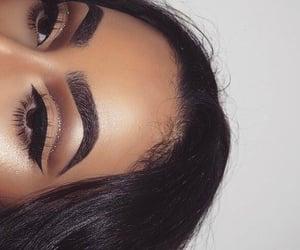 eyebrows, eyeliner, and art image
