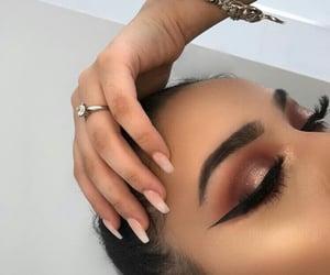 art, lashes, and eyeshdow image