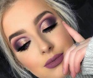 eyes, lips, and purple image