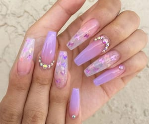 nails, butterfly, and pastel image