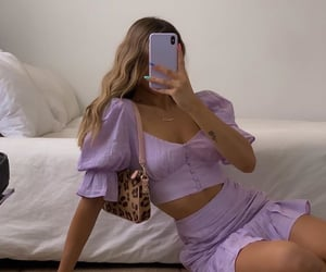 fashion, purple, and aesthetic image