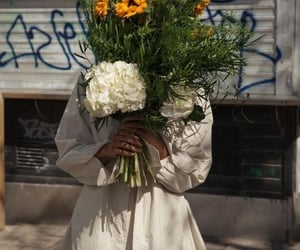 flowers, fashion, and sunflower image