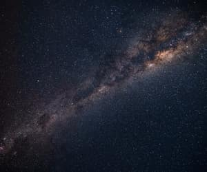 space, galaxies, and landscape image
