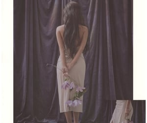 dress, flowers, and heels image