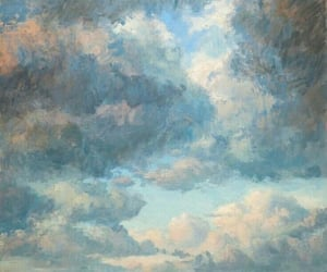 art, clouds, and renaissance image