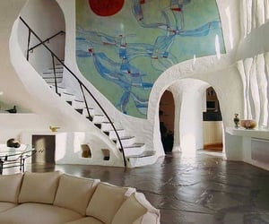 interior, house, and art image