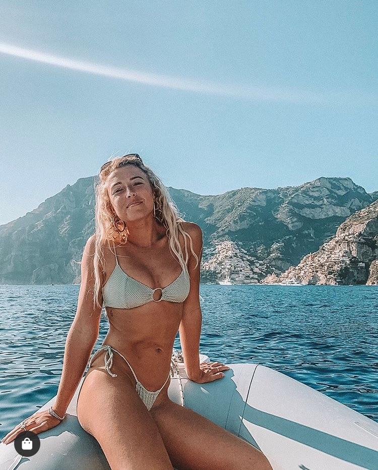 bikini, sea, and model image