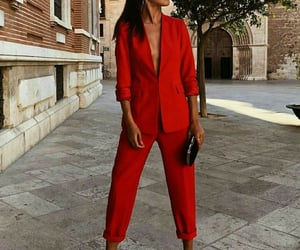 fashion, red, and look image