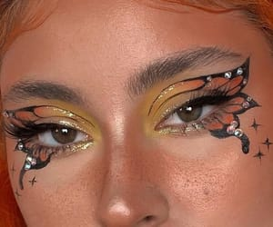 butterfly, make up, and makeup image