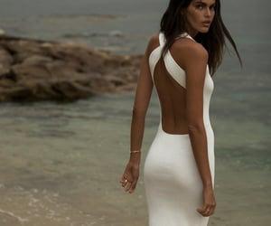 designer, makeup, and formal gown image