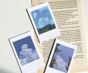 aesthetic, blue, and polaroid image