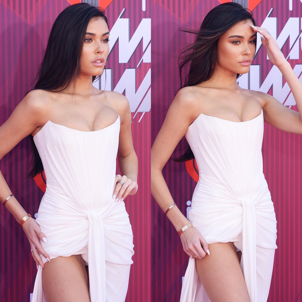 dress, red carpet, and white dress image