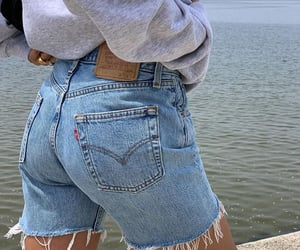 beach, levis, and jeans image