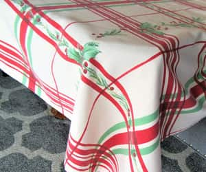 etsy, vintage tablecloth, and vintage christmas image