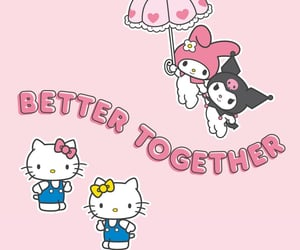 aesthetic, my melody, and friendship image