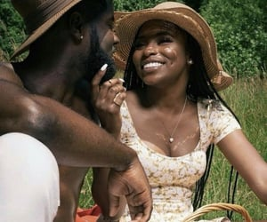 love, couple, and black love image