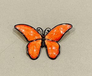 etsy, vintage butterfly, and mid century brooch image