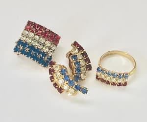 etsy, vintage brooch, and vintage earrings image
