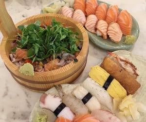 food, sushi, and sashimi image