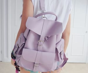 bag, purple, and pastel image