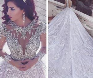 white wedding dress, princess wedding dress, and ball gown wedding dresses image