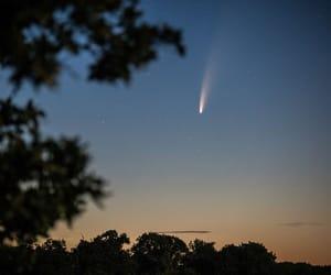 comet, night, and sky image