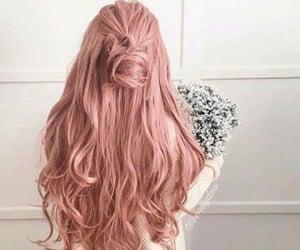 fashion hair, rose gold hair, and hair style image
