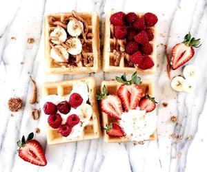 banana, delicious, and waffles image