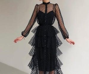 beauty, black, and black dress image