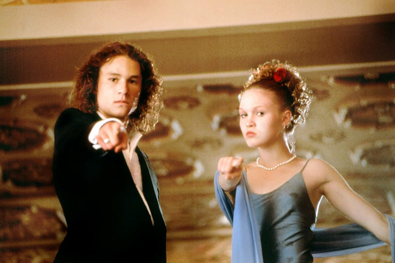 heath ledger, 10 things i hate about you, and Julia Stiles image