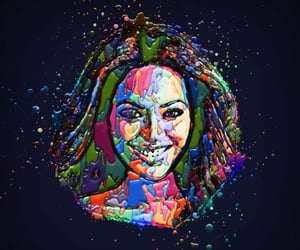 abstract, popart, and beyoncé image